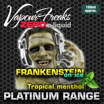 Vapour Freaks Platinum Range - Frankenstein On Ice - 100ml - 0mg