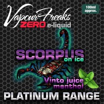 Vapour Freaks Platinum Range - Scorpus On Ice - 100ml - 0mg
